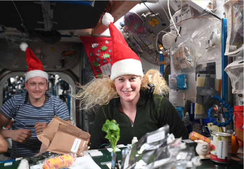 Happy holidays from the ISS